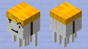 friendly ghast with a jackolantern helmet Minecraft Mob Skin