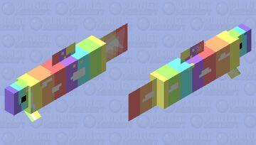 rainbow salmon Minecraft Mob Skin