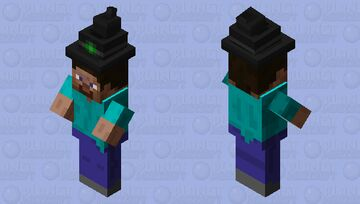 Steve with a hat Minecraft Mob Skin
