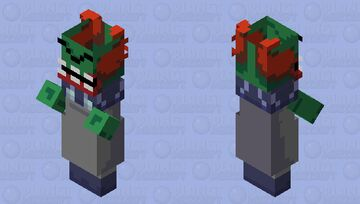 Tricky the clown (without a mask) - vs. Tricky mod Friday Night Funkin (original tricky the clown is form madness combat) Minecraft Mob Skin