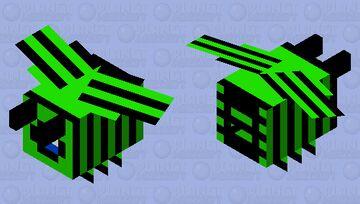 among us lime bee Minecraft Mob Skin