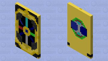 [BETTER IN 3D VIEW] Minecraft Story Mode Amulet Redesign - Cape Minecraft Mob Skin