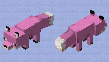 Pink fox Minecraft Mob Skin