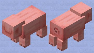 Totally Normal Pig Minecraft Mob Skin