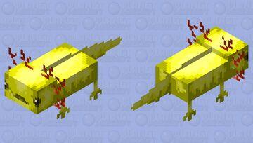 Yellow axolotl Minecraft Mob Skin