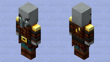 The Pillager (Retexture) (Ver.2) (Armor Gold) Minecraft Mob Skin