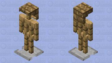 armo(u)r stand with head but its still wood Minecraft Mob Skin
