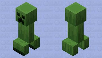 New Creeper (Remade) (See picture Description) Minecraft Mob Skin