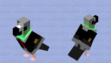 Pigeon in a Suit Minecraft Mob Skin