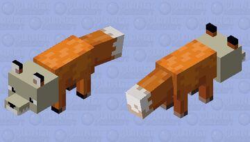Skull fox(Bedrock) Minecraft Mob Skin