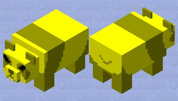 Aggressive Golden Panda Minecraft Mob Skin