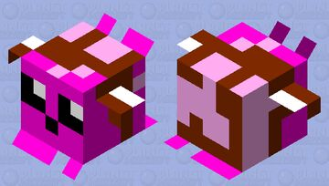 Cute Happy Pufferfish (medium) 2.0 Minecraft Mob Skin