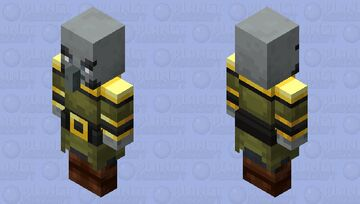 The Pillager Captain (Retexture) (Ver.2) (Armor Gold) Minecraft Mob Skin