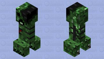Withering Creeper Minecraft Mob Skin