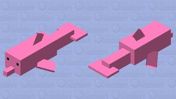 Pink River Dolphin Minecraft Mob Skin