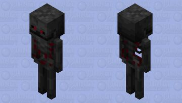 Red Whither Skeleton Minecraft Mob Skin