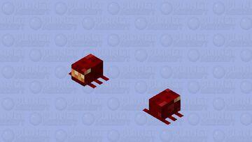 Larva / From Crimson Forest / spider / v.2 Minecraft Mob Skin