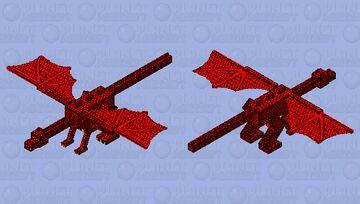 Firewall dragon Minecraft Mob Skin