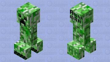 Creeper Aww, Man Minecraft Mob Skin