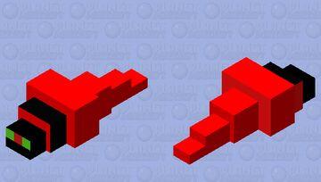 Red Silverfish Mob skin Minecraft Mob Skin