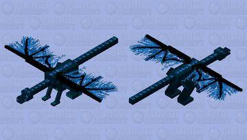 Blue fire Ender Dragon Minecraft Mob Skin