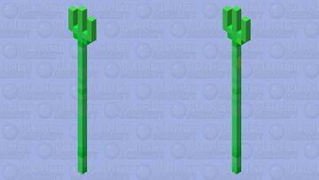 Emerald Trident Minecraft Mob Skin