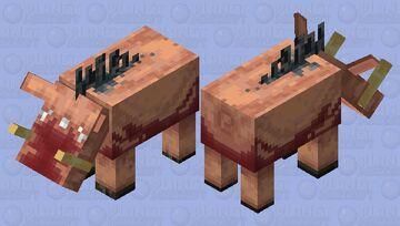 remaster Hoglin Minecraft Mob Skin