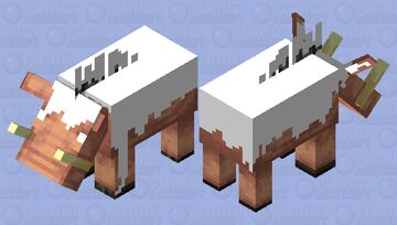 Creamy hoglin Minecraft Mob Skin