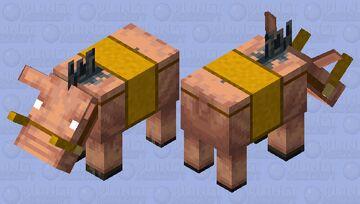 Hoglin of Royalty Minecraft Mob Skin
