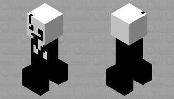 Gaster (Part of the minecraft with edits mod) Minecraft Mob Skin