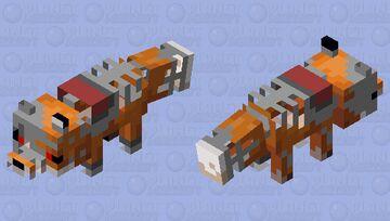 Nightmare Fox animatronic Minecraft Mob Skin