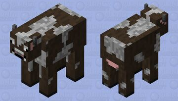 Smiled Cow Minecraft Mob Skin