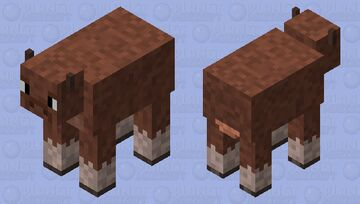 Common Cow (Tan/Brown Variant) Minecraft Mob Skin