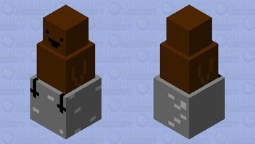 baby penguine on a rock Minecraft Mob Skin