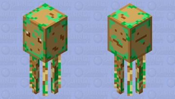 mouldy squid using the totem of undying colours Minecraft Mob Skin