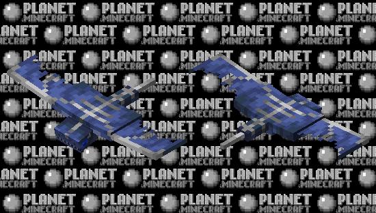Realistic phantom (blue eyes version) Minecraft Skin