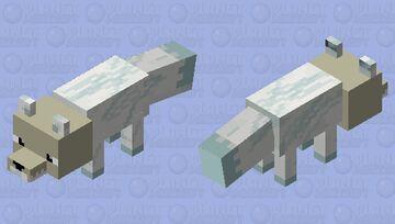 Arctic Skull fox(Bedrock) Minecraft Mob Skin