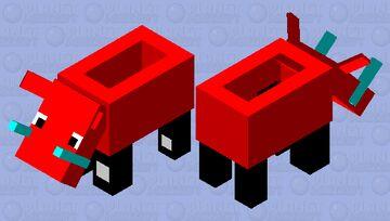 Hoglin Car Minecraft Mob Skin