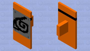 hidden leaf headband (Naruto) (pls use this took me 2+ hours of deleting and fixing colors) Minecraft Mob Skin