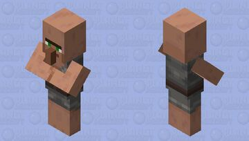 classic Villager Minecraft Mob Skin