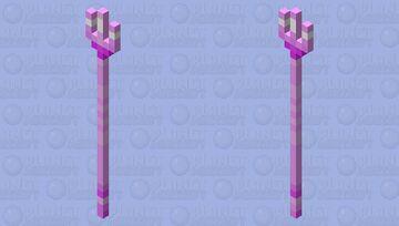 pink trident Minecraft Mob Skin