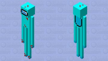 among us (if I were imposter) Minecraft Mob Skin