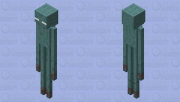 Frozen enderman (Frozen end) Minecraft Mob Skin