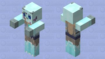 Frozen Saber tooth tiger or Lego Chima's Sir Fangar Minecraft Mob Skin