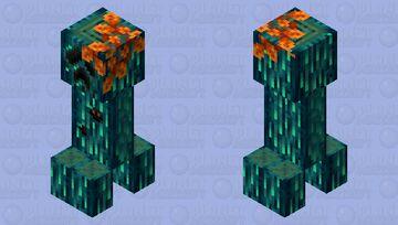 Realistic Warped Creeper Minecraft Mob Skin