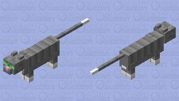 Grey Tabby Cat Minecraft Mob Skin