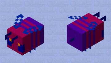Crimson Bee #2 Edition Minecraft Mob Skin