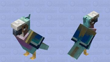 Lilac Breasted Roller Parrot Bird Skin Minecraft Mob Skin