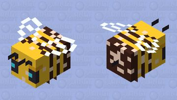 Buzzy Bees (Version 9 (with Pollen) - Official) Minecraft Mob Skin
