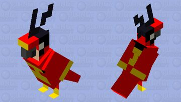 Spider-Parrot (Jessica Feather - Classic Suit) - MOBS OF THE SPIDER-VERSE Minecraft Mob Skin